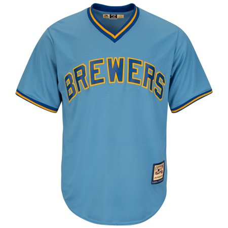 Robin Yount Milwaukee Brewers Majestic Cooperstown Cool Base Blue Jersey by