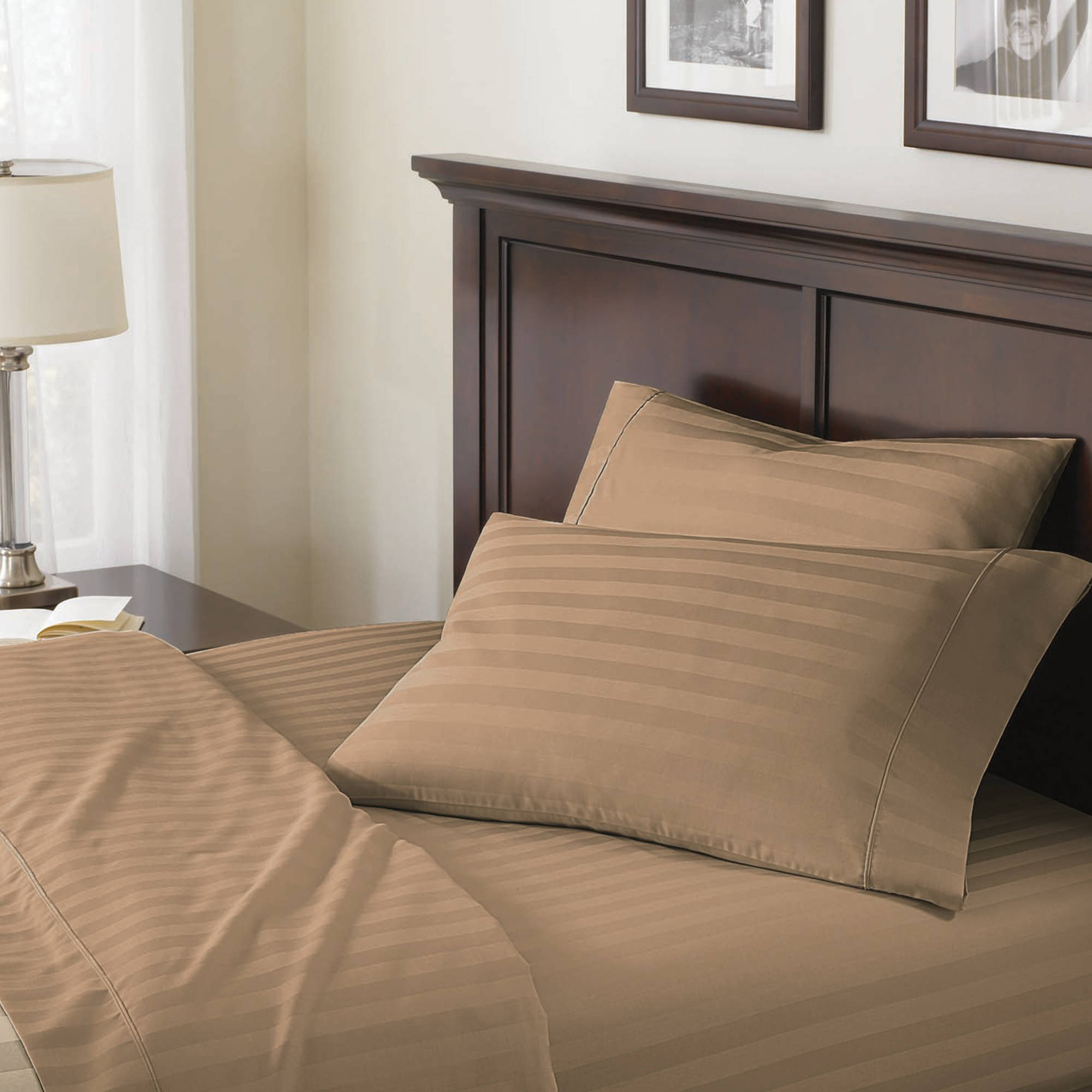 Better Homes and Gardens 400-Thread Count Damask Sheet Set - Walmart.com
