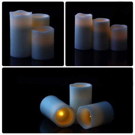 Remote Control Electronic LED Candle Romantic Gift 3pcs LED Wax Candles - image 5 of 7