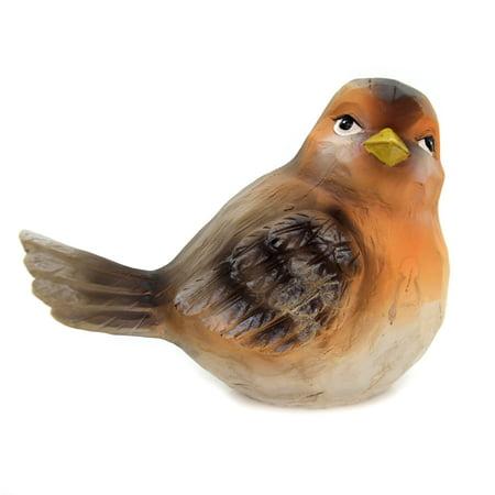 Animal MEDIUM TEXTURED BIRD Polyresin Wood Carved Look