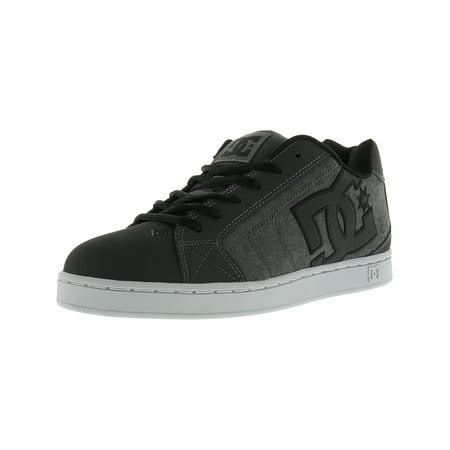 Dc Men's Net Se Grey Resin Rinse Low Top Leather Skateboarding Shoe -