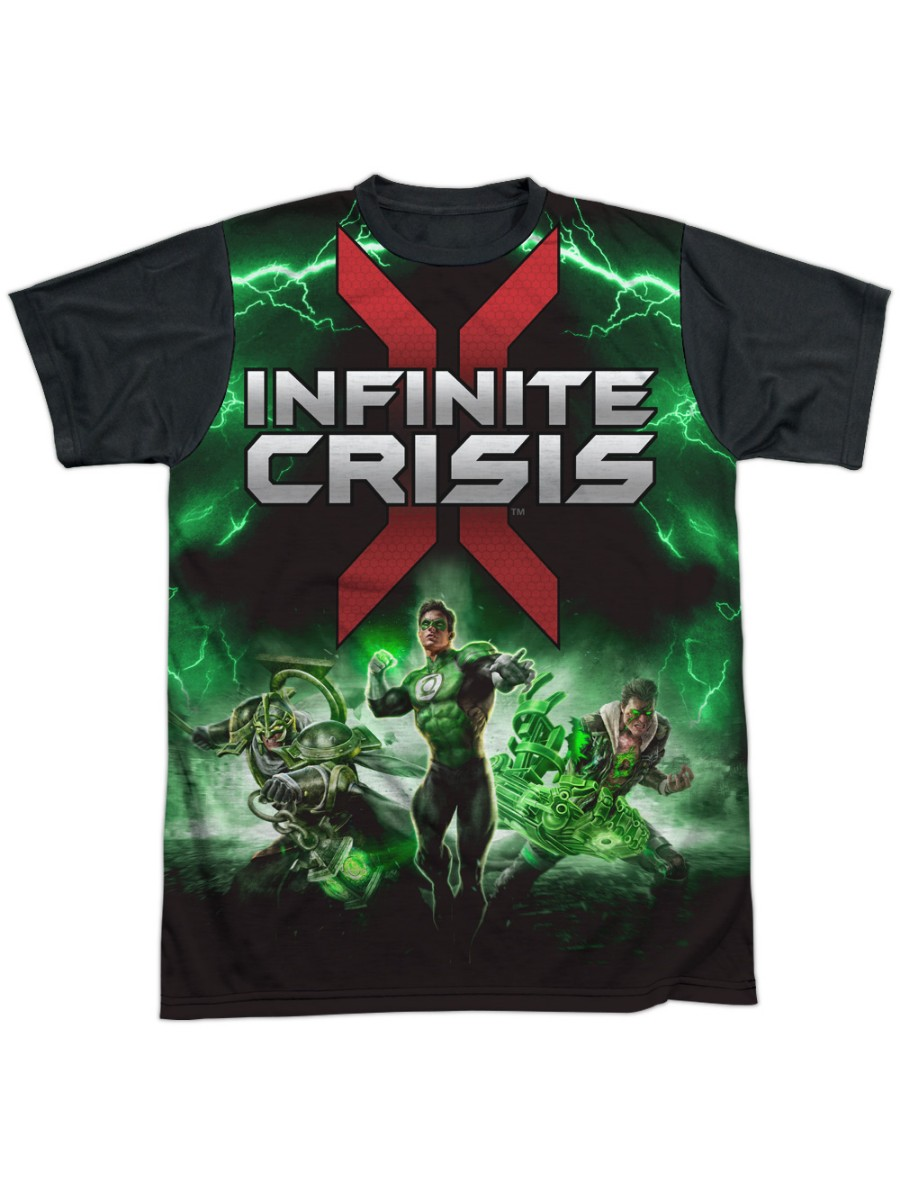 Ic Green Lantern Adult All Over Print 100/% Poly T-Shirt Infinite Crisis