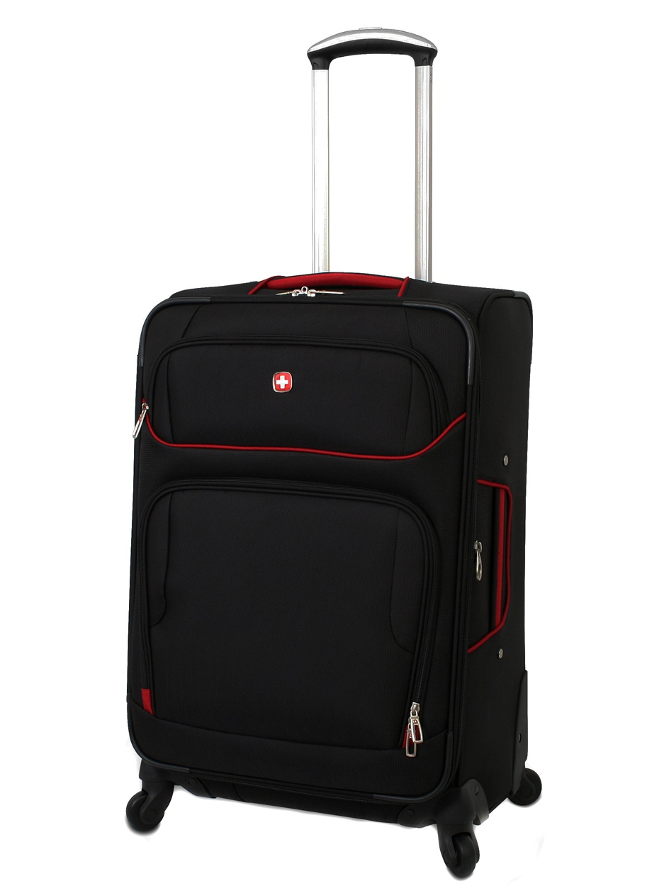 48ed45d51 SWISSGEAR - Wenger Expandable Lightweight Luggage 24 Spinner Upright  Suitcase - Walmart.com