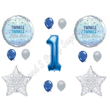 1ST BIRTHDAY TWINKLE TWINKLE LITTLE STAR BOY Balloons Decoration Supplies Nursery Rhymes](Little Boys Birthday)