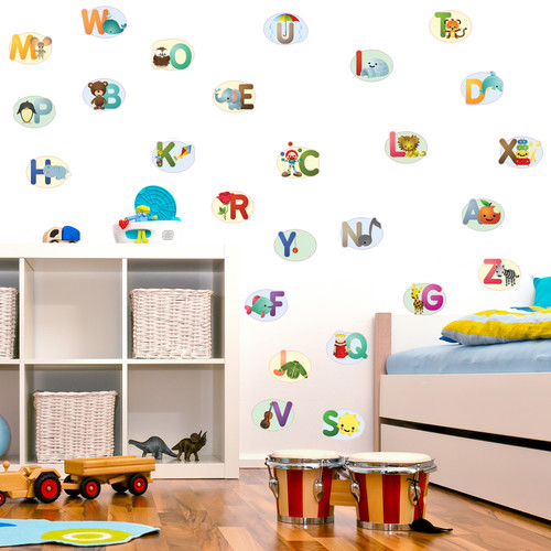 Style and Apply Nursery Alphabet Wall Decal
