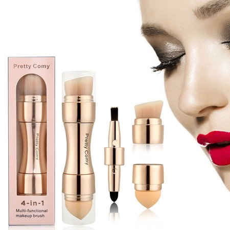 4 in 1 Makeup Brush Liquid Foundation Powder Blush Contour Stipple (Using A Stippling Brush With Liquid Foundation)