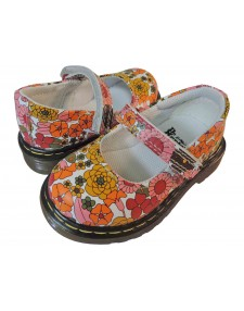 Dr. Martens Girl's TULLY Silver Mary Janes 5 M UK 6 M by