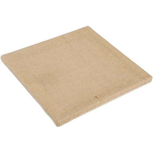 "Canvas Corp Stretched Burlap, Natural 12""x12"
