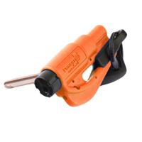 Resqme The Original Emergency Keychain Car Escape Tool, 2-in-1 Seatbelt Cutter and Window Breaker, Orange - Compact Emergency Hammer