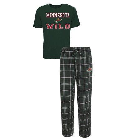 Mens Minnesota Wild Pajama Pants And T Shirt Sleepwear Set
