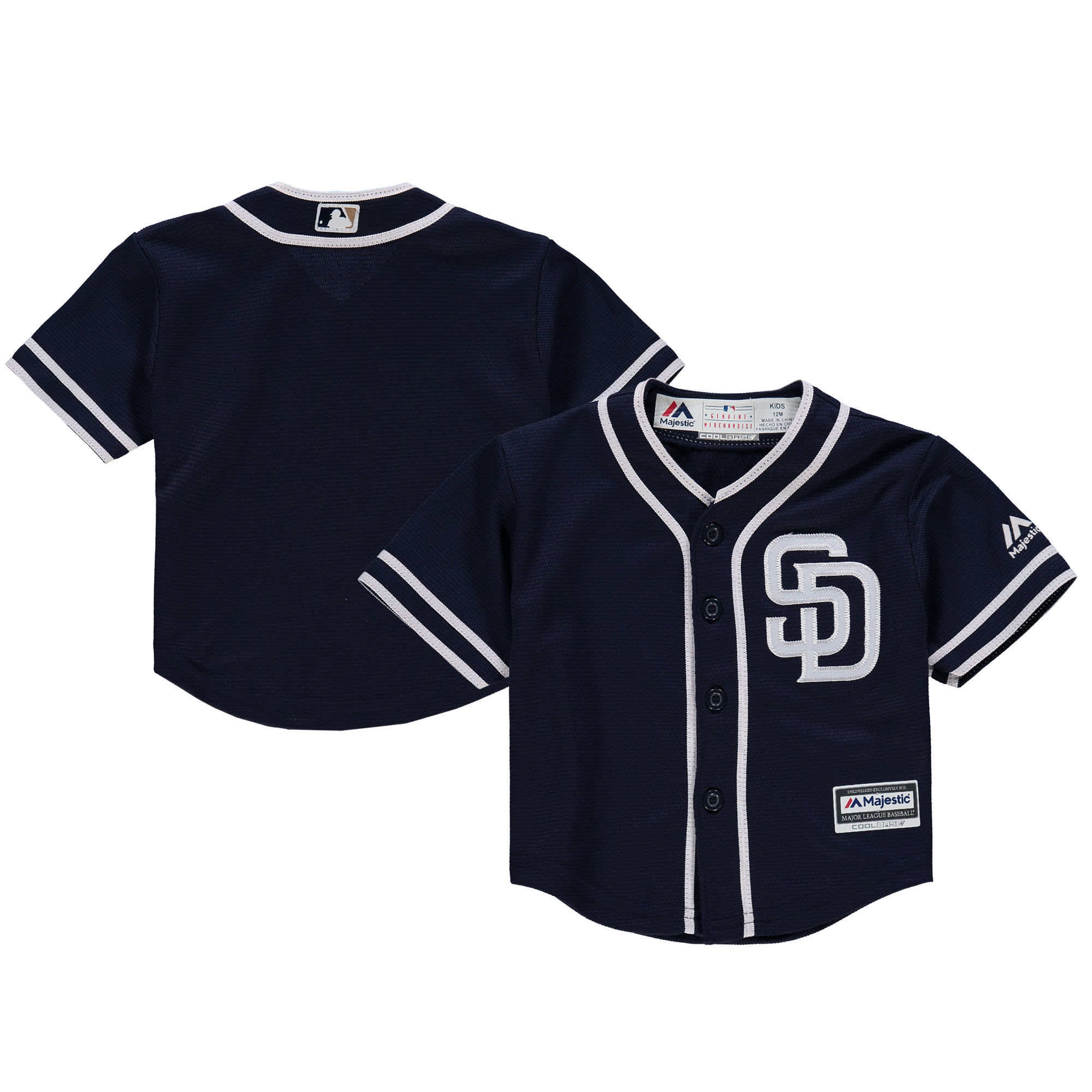 San Diego Padres Majestic Infant Alternate Official Cool Base Jersey - Navy