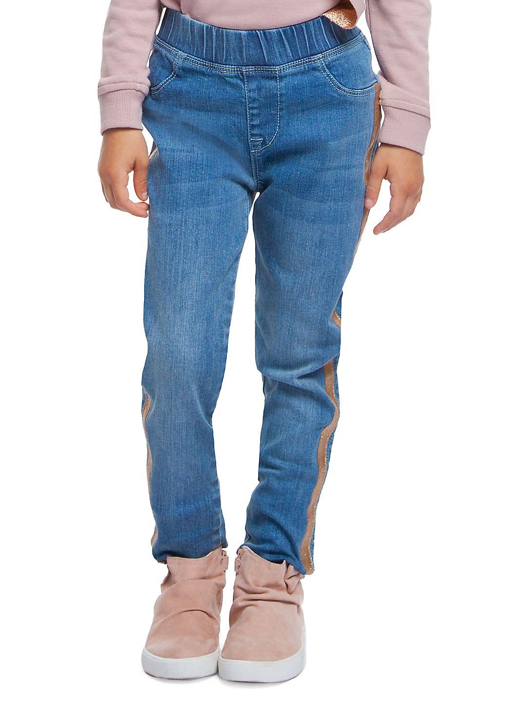 Little Girl's Side Striped Jeans