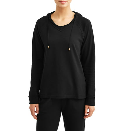 Lined Hooded Nylon Pullover (Women's Athleisure French Terry Hooded Pullover )