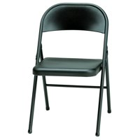 Meco Sudden Comfort All Steel Folding Chair, Black