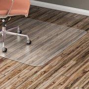Lorell, Hard Floor Rectangular Chairmat, 1 / Each, Clear