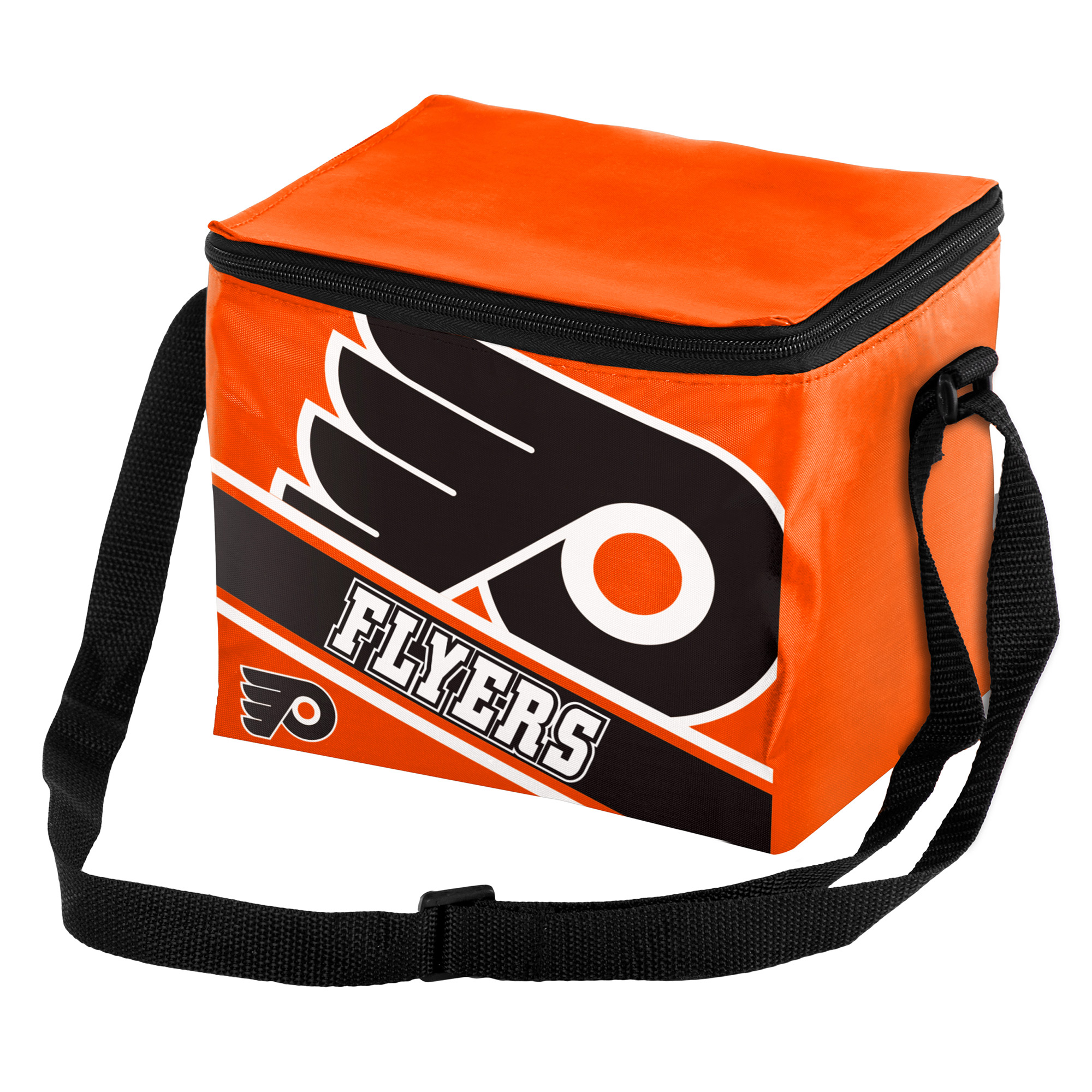 Philadelphia Flyers Big Logo Stripe 6 Pack Cooler - No Size