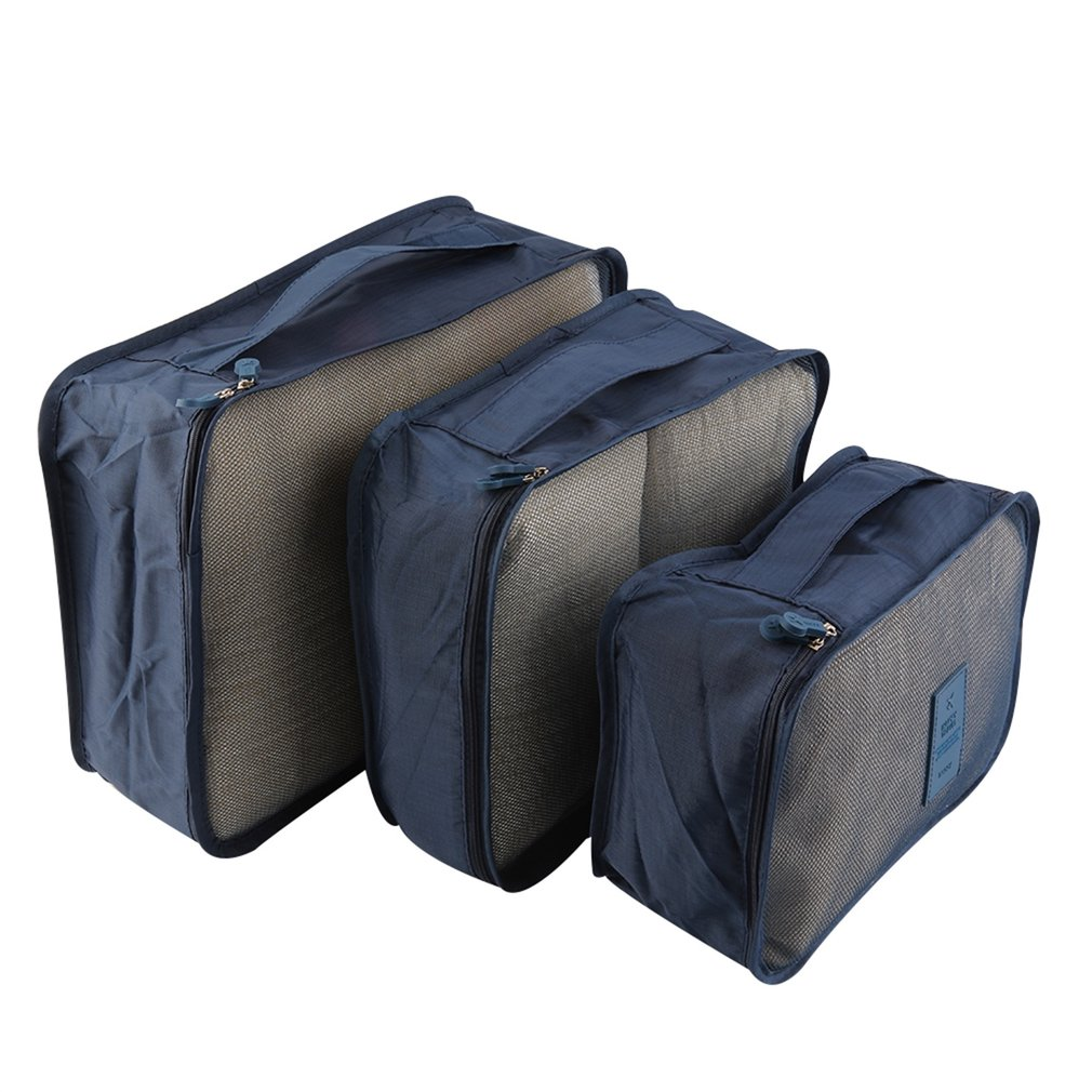 6pcs/Set Waterproof Clothes Storage Bag Packing Cube Travel Luggage Organizer