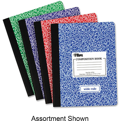 Tops Wide Ruled Composition Books