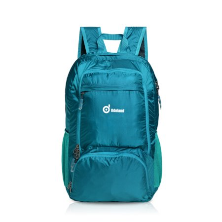 Packable travel backpack lightweight 35L large handy multiple storage compartmentsfolding daypack water resistant fabric outdoor hiking (Outlander Large Packable Handy Lightweight Travel Backpack Daypack)