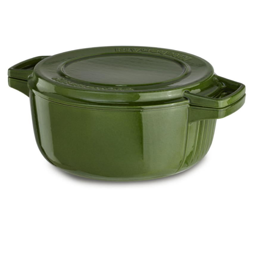 KitchenAid Professional Ivy Green Cast Iron 6-Quart Casse...