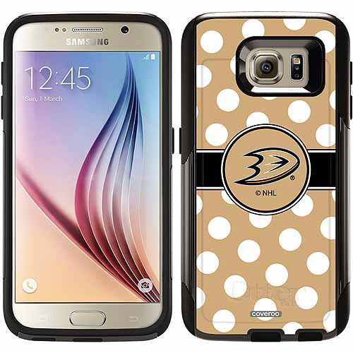 Anaheim Ducks Polka Dots Design on OtterBox Commuter Series Case for Samsung Galaxy S6