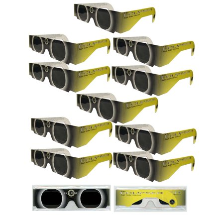 Solar Eclipse Glasses   10 Yellow Sun   Iso Certified  Ce Approved  Sleeved   Solar Shades