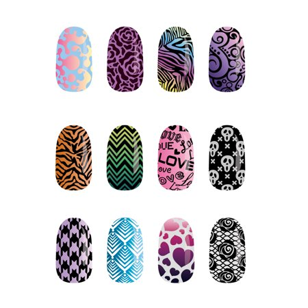 Nail Art Halloween Simple (Pueen Nail Stamp Starter Kit)