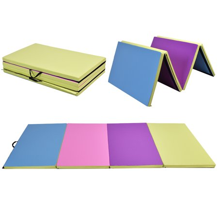 Costway 4 X10 X2 Quot Gymnastics Mat Folding Pu Panel Gym