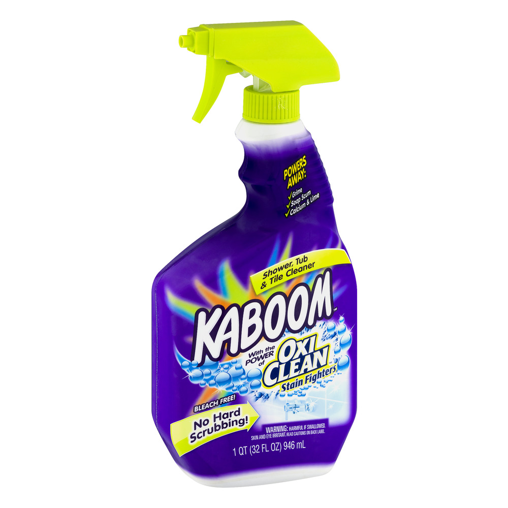 Kaboom with the Power of Oxi Clean Stain Fighters Shower, Tub ...