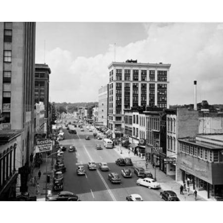 Traffic on a road in a city Kalamazoo Michigan USA Stretched Canvas -  (18 x - Party City Kalamazoo