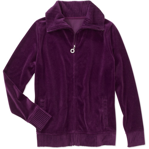 Mix n Match Women's Ribbed Velour Mock Neck Top