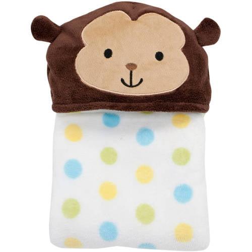 Lambs & Ivy Bedtime Originals Hooded Coral Fleece Blanket (Choose Your Character)