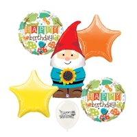 Garden Gnome Birthday Party Decorations Balloon Set