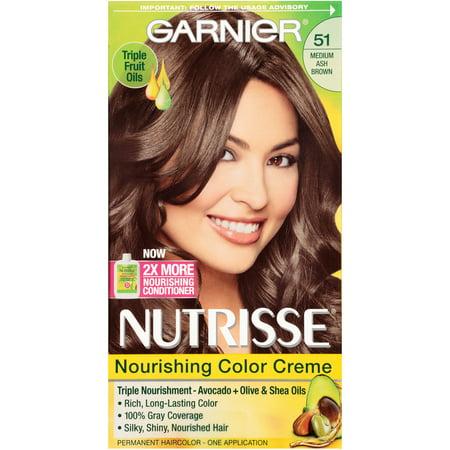 Garnier Nutrisse Nourishing Color Creme, 51 Medium Ash Brown  Walmart.com