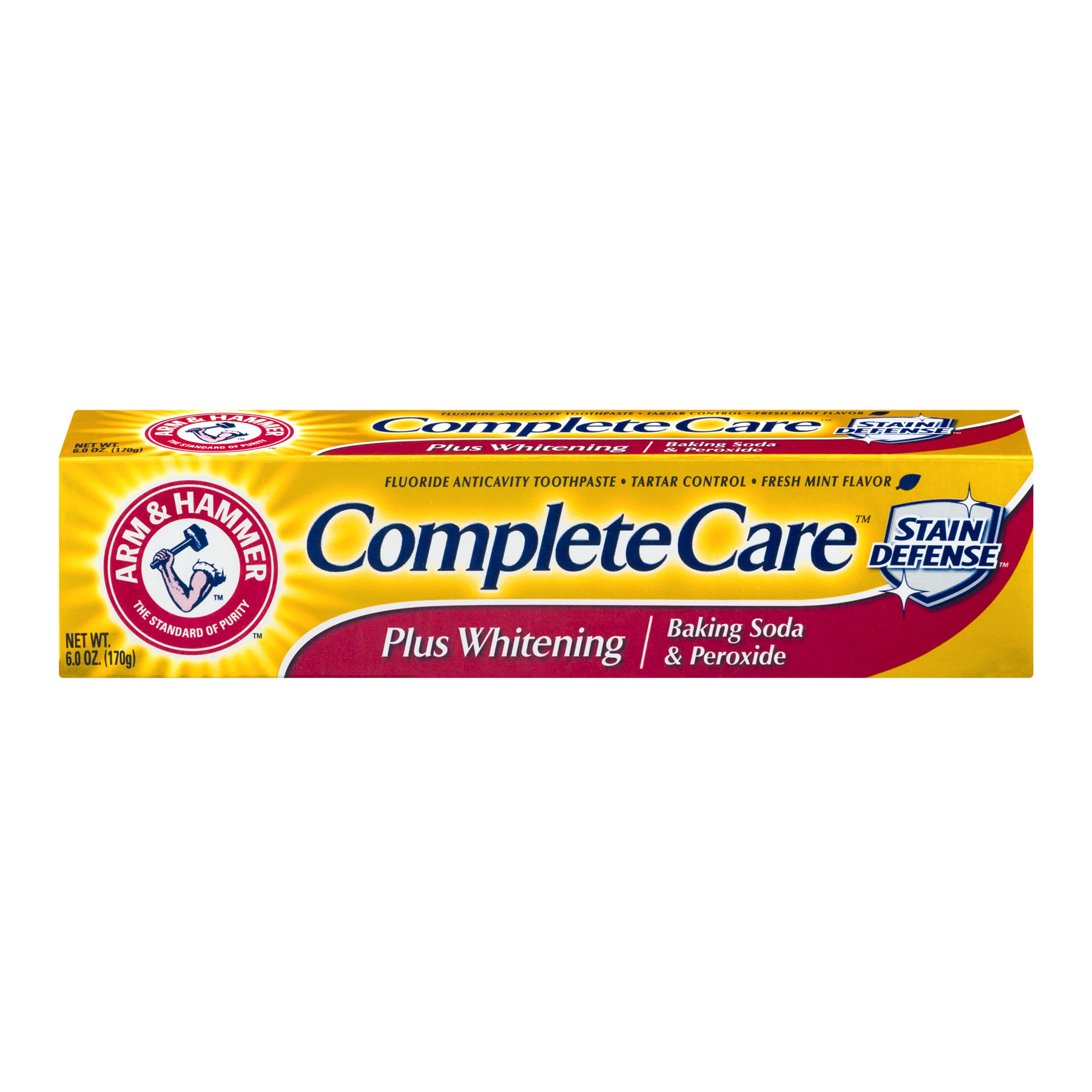 (2 pack) Arm & Hammer Complete Care Stain Defense Plus Whitening Baking Soda & Peroxide, 6.0 OZ