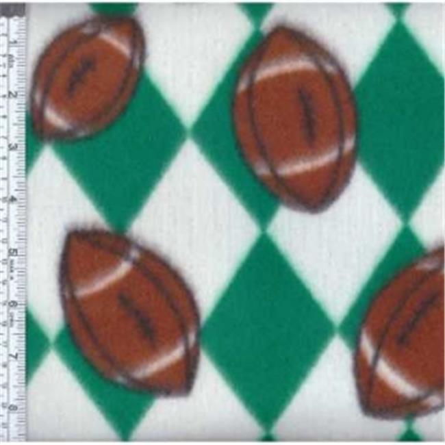 Textile Creations MFP-301-18 Sport Fleece, Team Footballs Navy & Orange