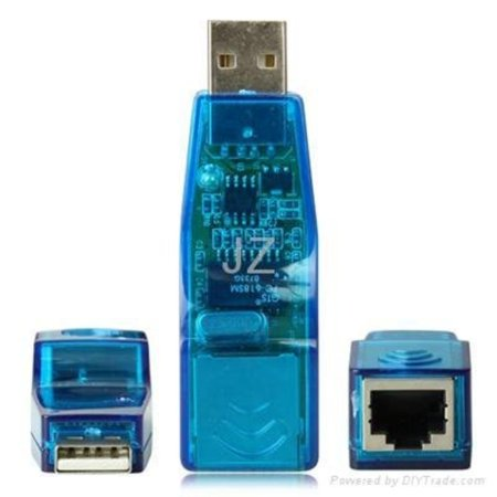 USB 2.0 Ethernet 10/100 Network LAN RJ45 Adapter, Brand New Generic BULK PACKAGE By (Convertible Network Package)