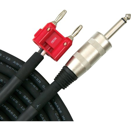 Livewire Elite 12g Speaker Cable Banana to 1/4 in. Male 100 ft. (Elite Banana)