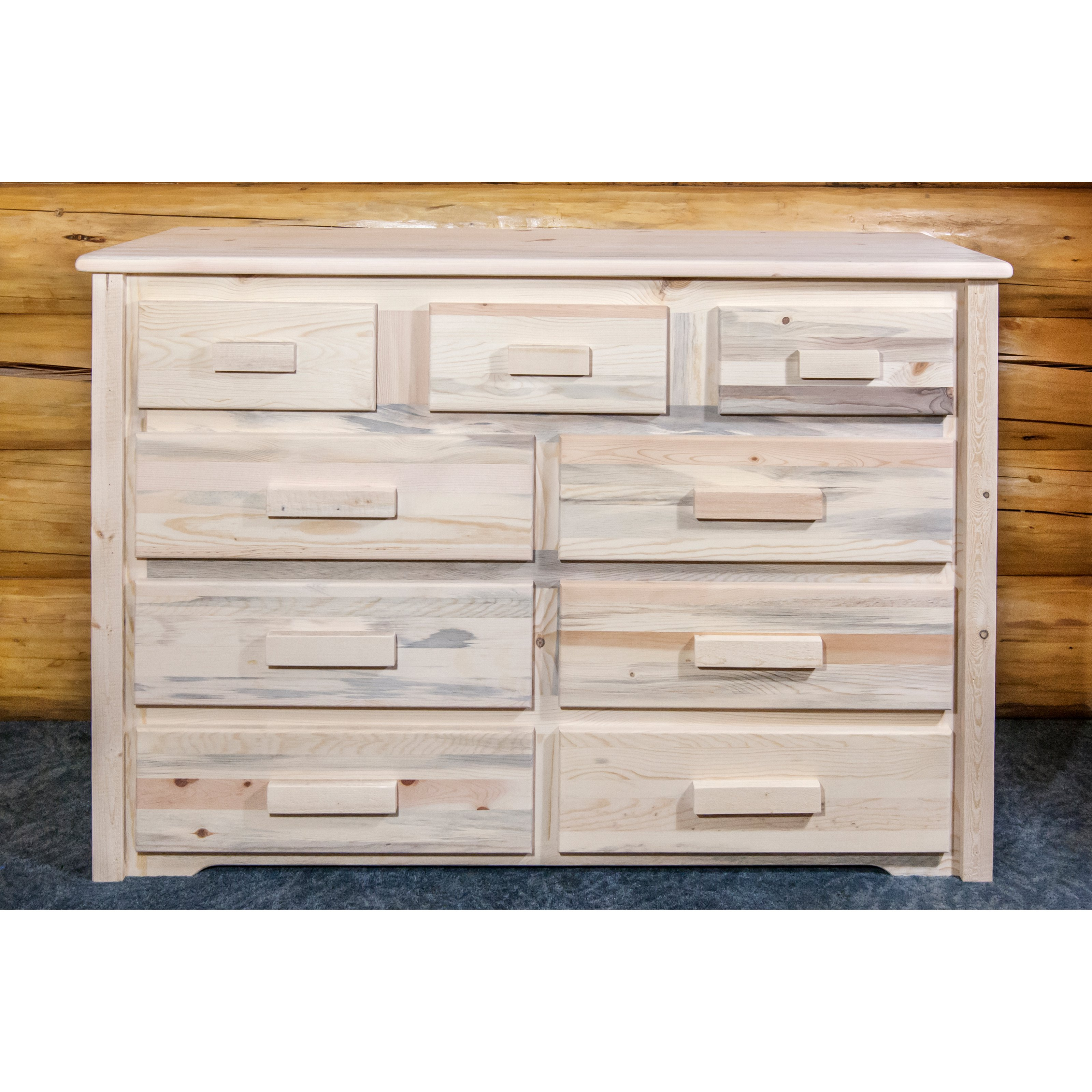 9-Drawer Dresser in Stained and Lacquered Finish