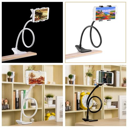 Universal Phone Holder Bracket with Charger Cable and Long Arm Clip on Desk Bed Kitchen Overall Length 37.4in Phone and Ipad Lazy Stand - image 6 of 9
