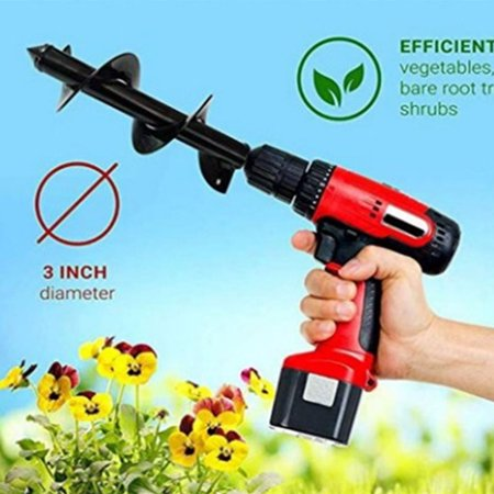 Replacement for Gasoline Drill Electric Hammer Soil Auger Earth Drill Bit Planter Garden Auger Hole Digger Head - image 6 of 7
