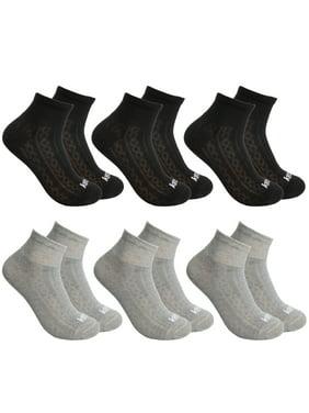 Kensie (6 Total Pairs) Womens Ankle Socks (3 Pairs Black, 3 Pairs Gray) Super-Soft Ankle Socks For Women Natural Feel Warm Socks