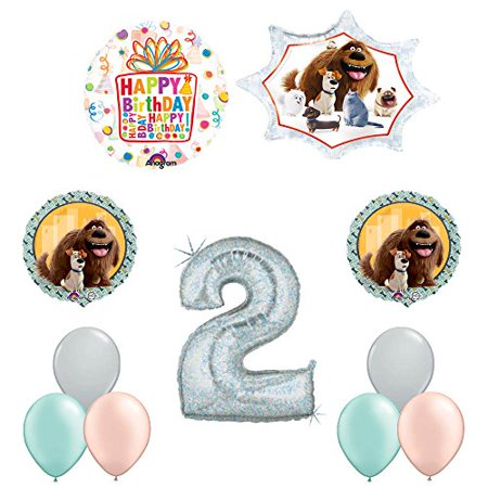 The Secret Life of Pets 2nd Holographic Birthday Party Balloon Supply Decorat... - Palace Pets Birthday Party