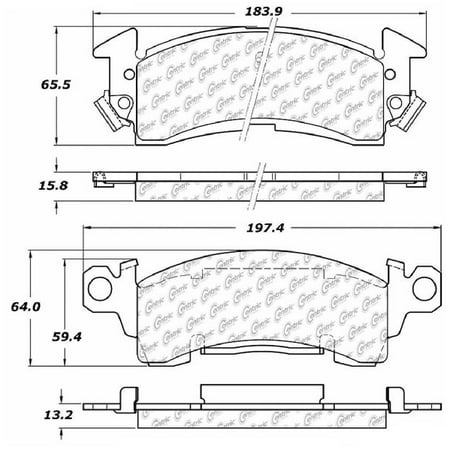 Go-Parts OE Replacement for 1969-1977 Oldsmobile Cutlass Supreme Front Disc  Brake Pad Set for Oldsmobile Cutlass Supreme