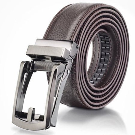 Costyle New Comfort Click Belt Men Automatic Adjustable Leather Belts As Seen On TV,Brown