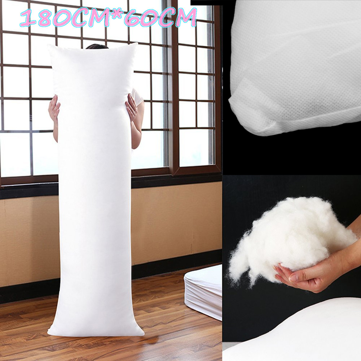 180cm x 60cm White Anime Dakimakura Comfortable Hugging Pillow Inner Body Cushion Bed Pillows