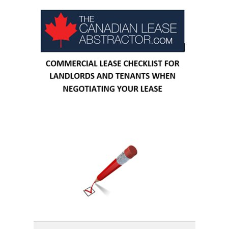 COMMERCIAL LEASE CHECKLIST FOR LANDLORDS AND TENANTS WHEN NEGOTIATING YOUR LEASE - eBook