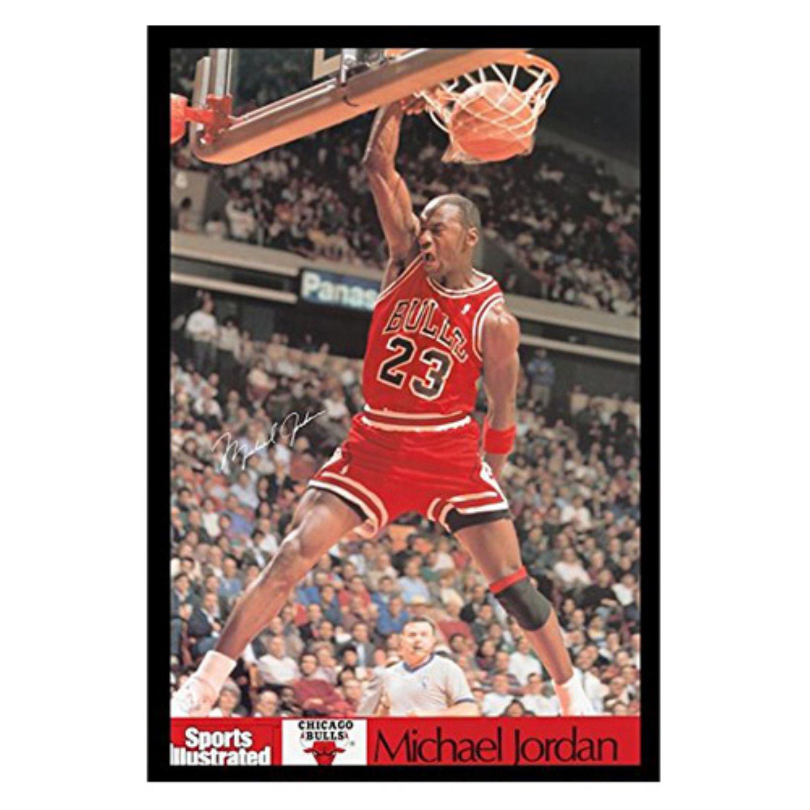 buyartforless Framed Michael Jordan Dunk Poster Wall Art