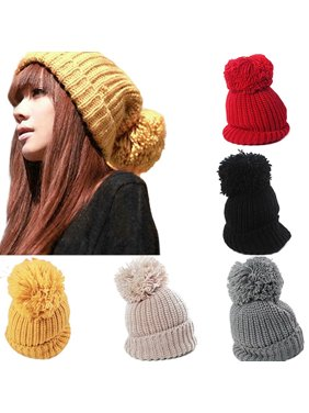66d51921a88 Product Image HiCoup Women s Winter Slouch Knit Cap Warm Oversized Cuffed  Beanie Crochet Ski Bobble Hat