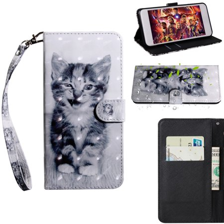 Galaxy Grand Prime Case,J2 Prime Case,Allytech Premium PU Leather Flip Wallet TPU Inner Bumper with ID Card Slots Full Body Protetcor for Samsung Galaxy Grand Prime G530 G530H G5308,Cheshire (Cat 517 For Sale)